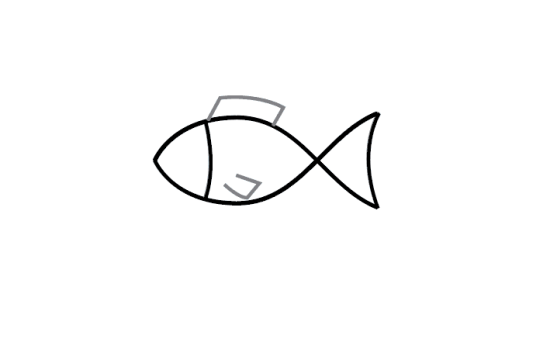 Easy how to draw a cartoon fish #howtodrawafish