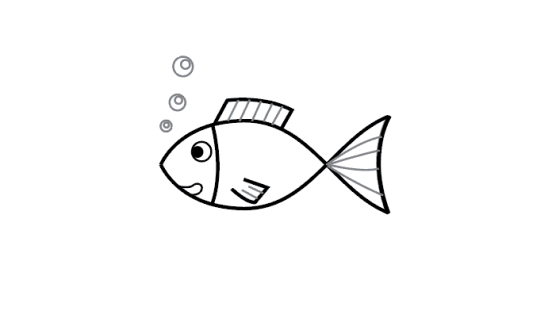 Convenient how to draw a big fish step by step #howtodrawafish