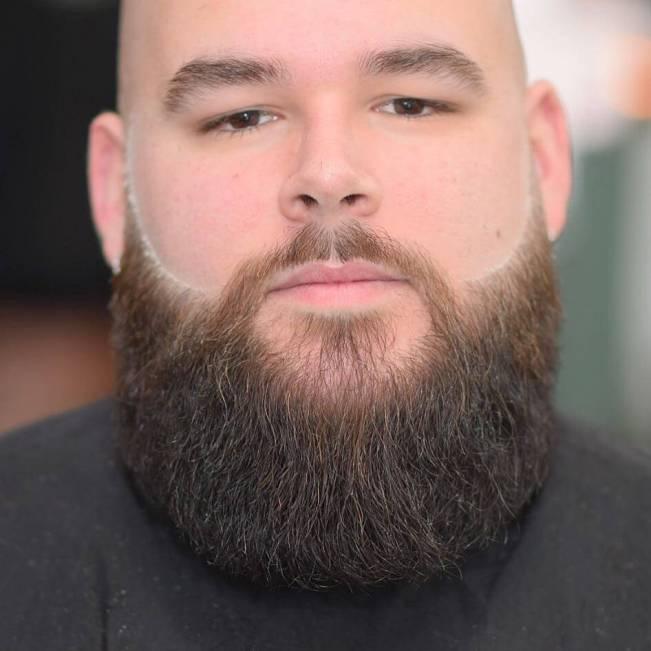 Amazing hairstyle with beard #beardstyles #beardstylemen #haircut #menstyle