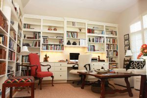 Basement Home Office Space