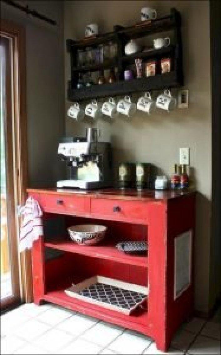 Spectacular kitchen coffee station #coffeestationideas #homecoffeestation #coffeebar