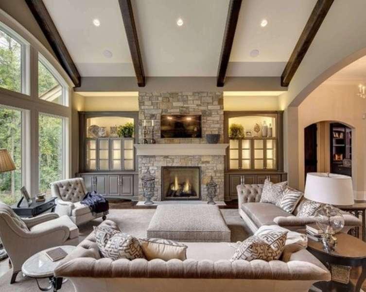 Unique corner fireplace ideas pinterest #cornerfireplaceideas #livingroomfireplace #cornerfireplace