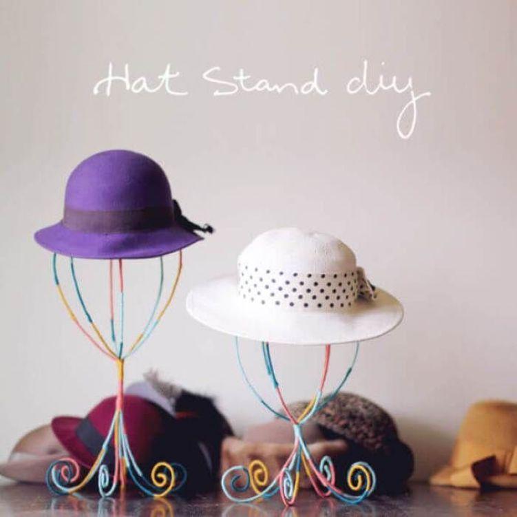 Surprising simple diy hat rack #diyhatrack #hatrackideas #caprack #hanginghatrack