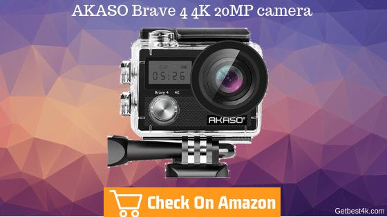 AKASO Brave 4 4K 20MP camera