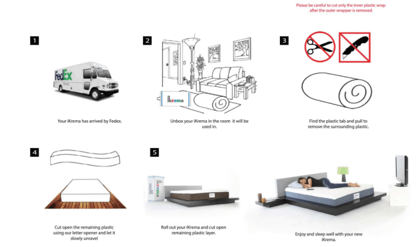 Below are a few suggestions on how to unbox and place your new Ikrema mattress.