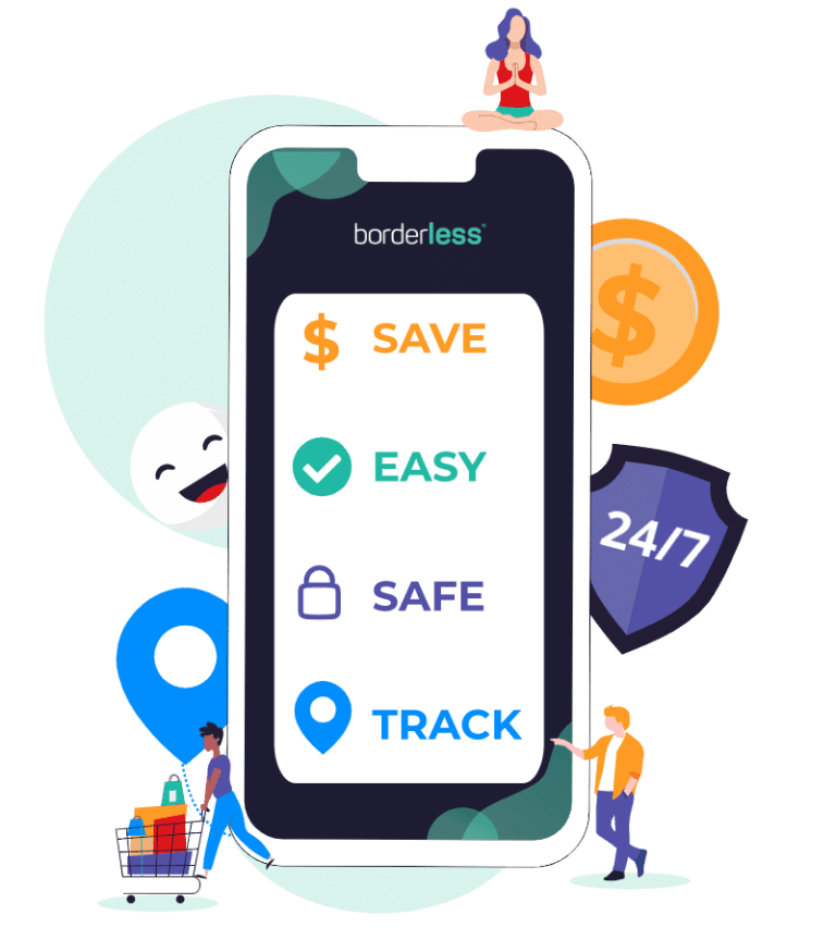 borderless is Safe. Easy. Save big. Track.