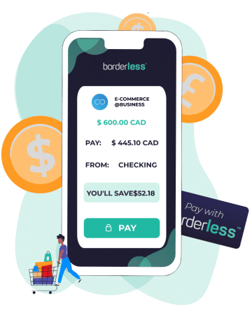borderless - checkout 1-click payments