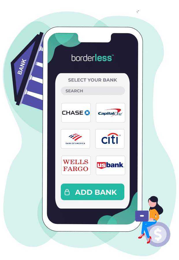 Add your bank account once on borderless