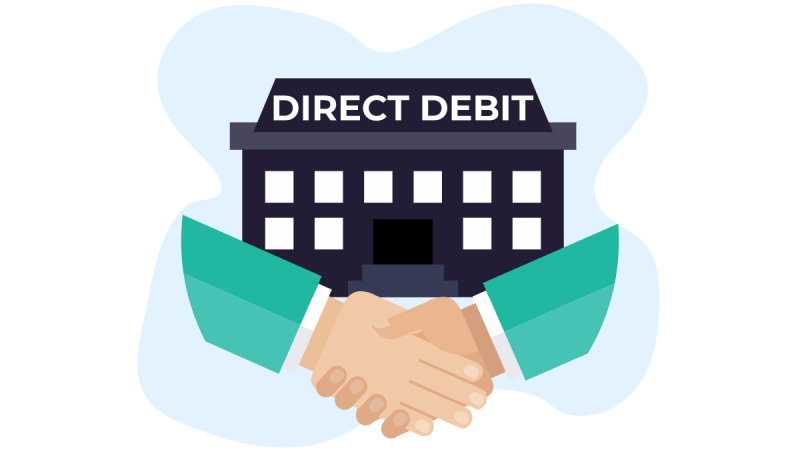 A direct debit (known as ACH debit or bank debit) is an authorized payment instruction to your bank where funds can be debited from your bank account.