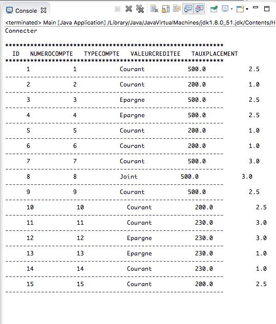 Code - Connexion JAVA & Mysql - C
