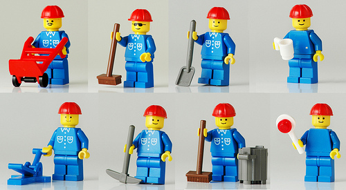 Lego construction workers