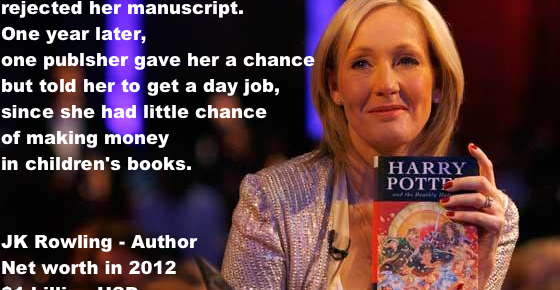 JK Rowling Famous Failure who Found Success