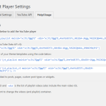 YouTube Playlist Player - Help/Usage
