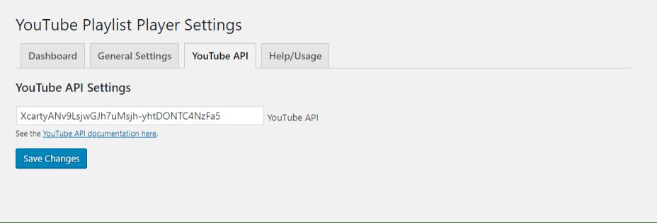 YouTube Playlist Player - YouTube API