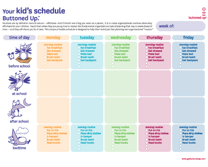 Printable Daily Schedule Template. sample printable daily schedule ...