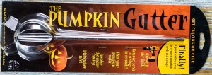 Photo of a new pumpkin gutter in the package
