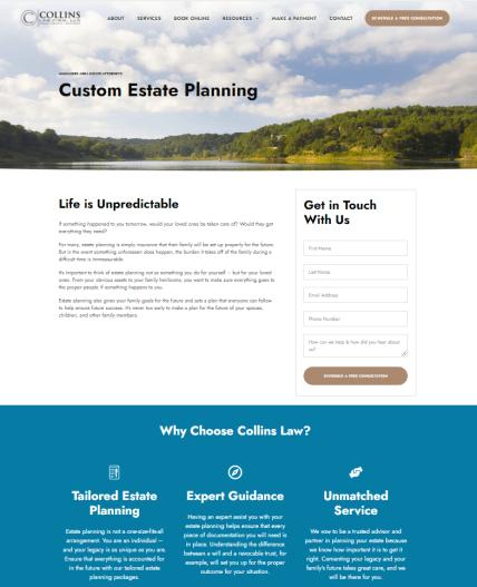 Civille Lead Gen Landing Pages to improve lead quality