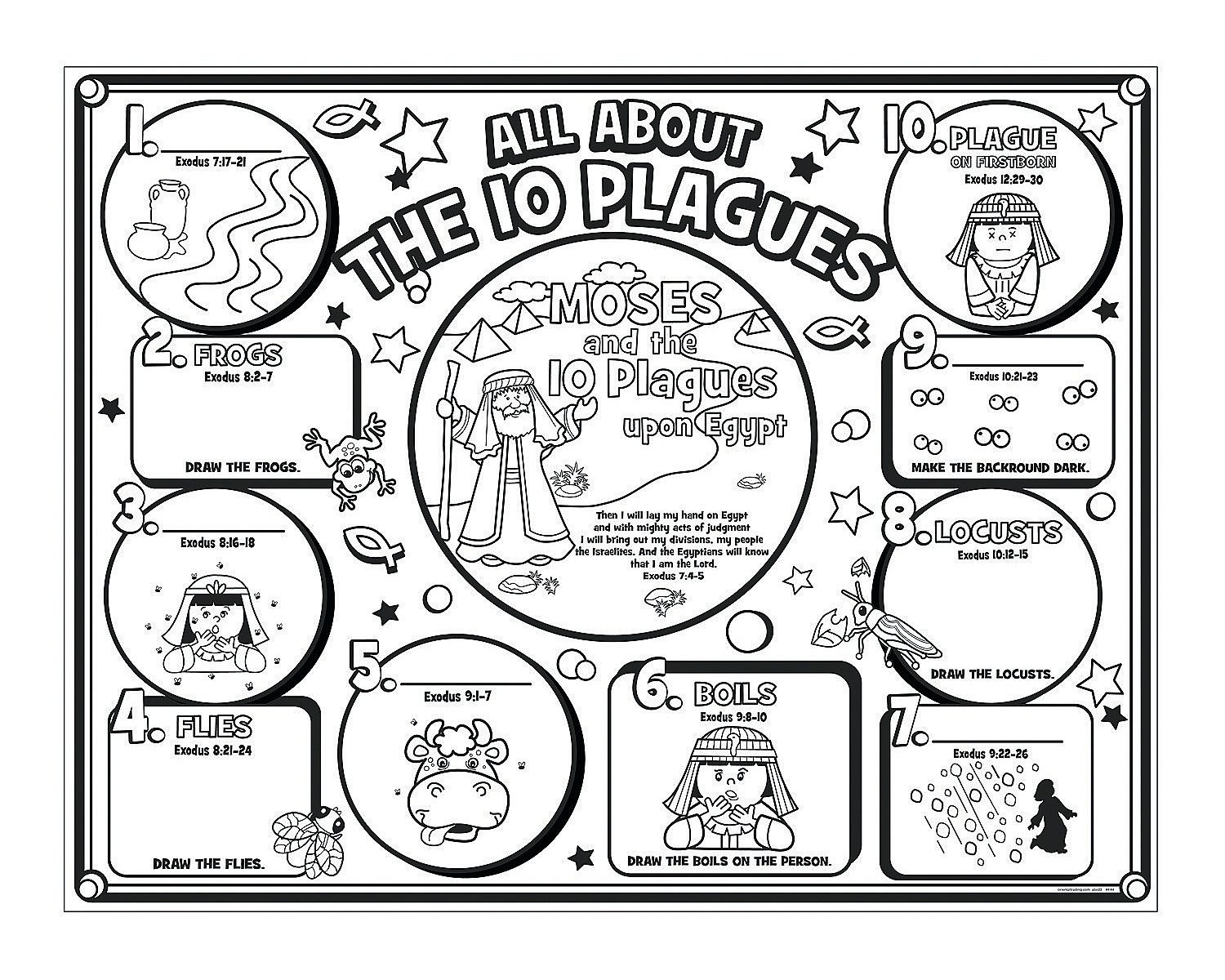 10 Plagues Coloring Pages At Getcolorings