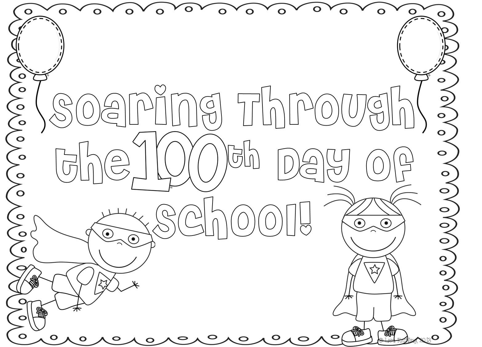 100th Day Of School Coloring Pages Free At Getcolorings
