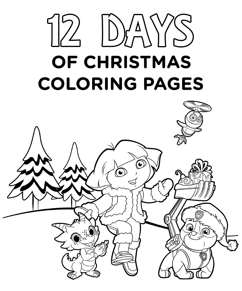 12 Days Of Christmas Coloring Pages Printable At