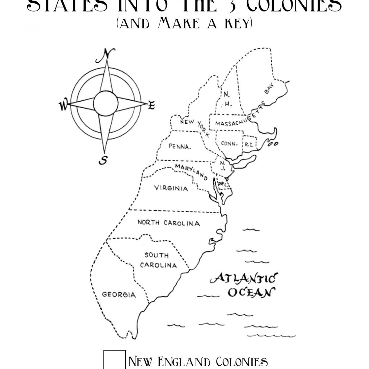 13 Colonies Coloring Page At Getcolorings