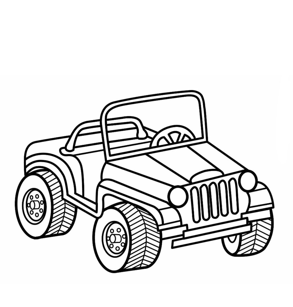 4 Wheeler Coloring Pages At Getcolorings
