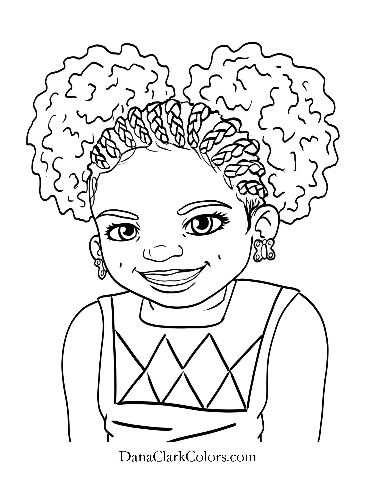 African Girl Coloring Pages At Getcolorings