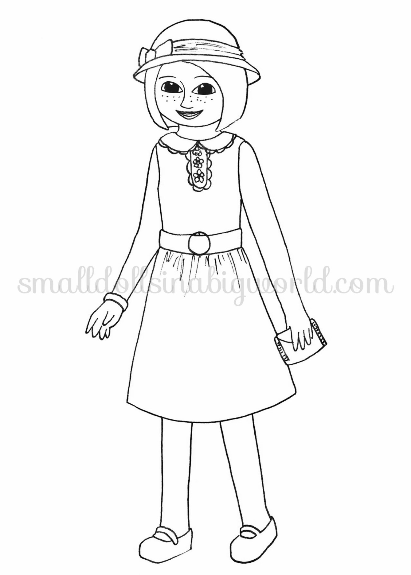 American Girl Doll Coloring Pages Free At Getcolorings