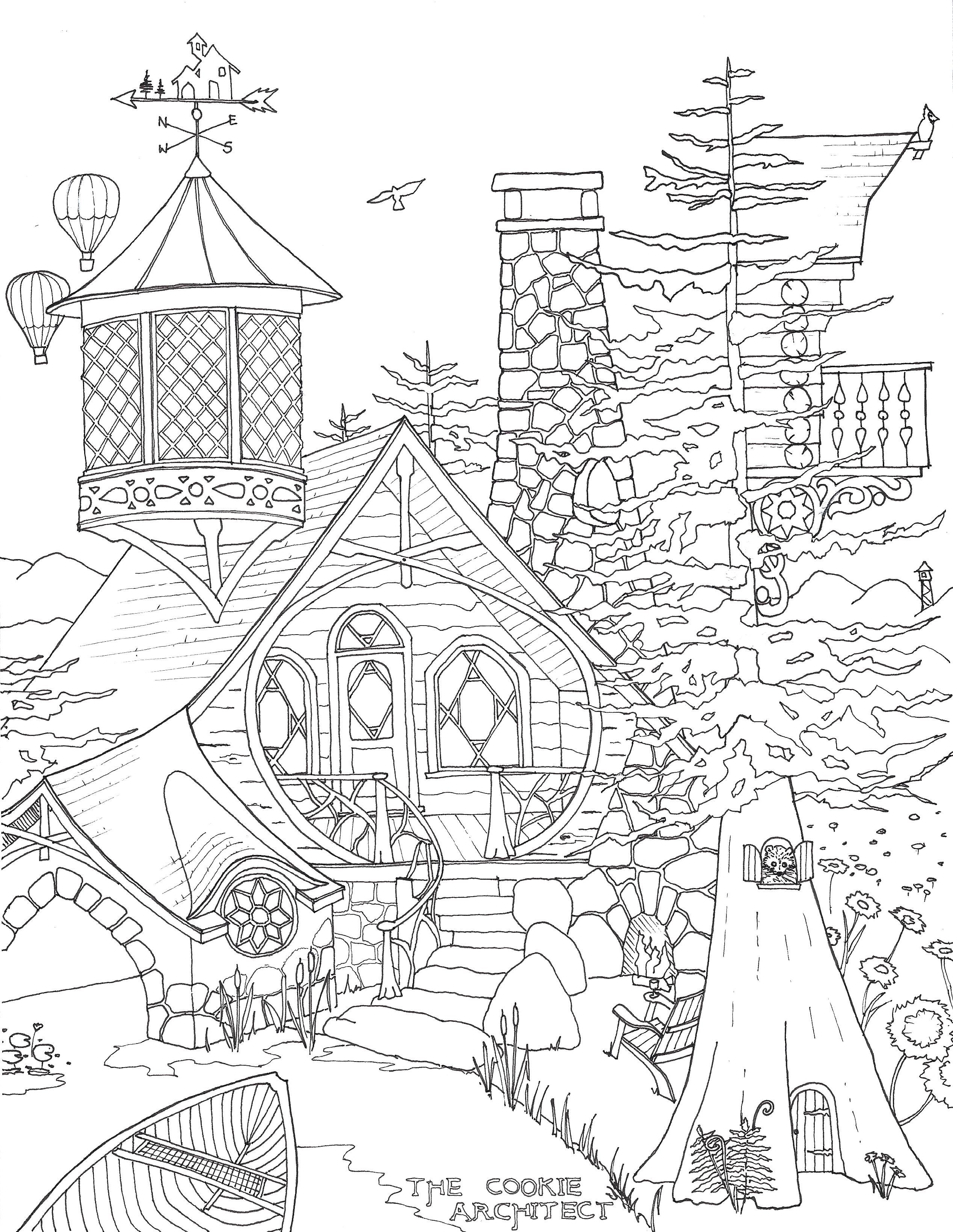 Architecture Coloring Pages At Getcolorings