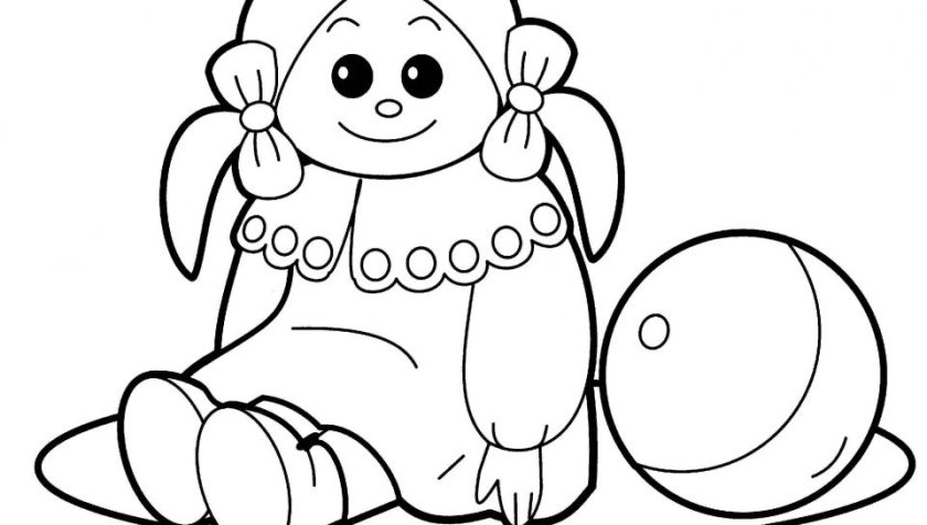 baby doll coloring page at getcolorings  free