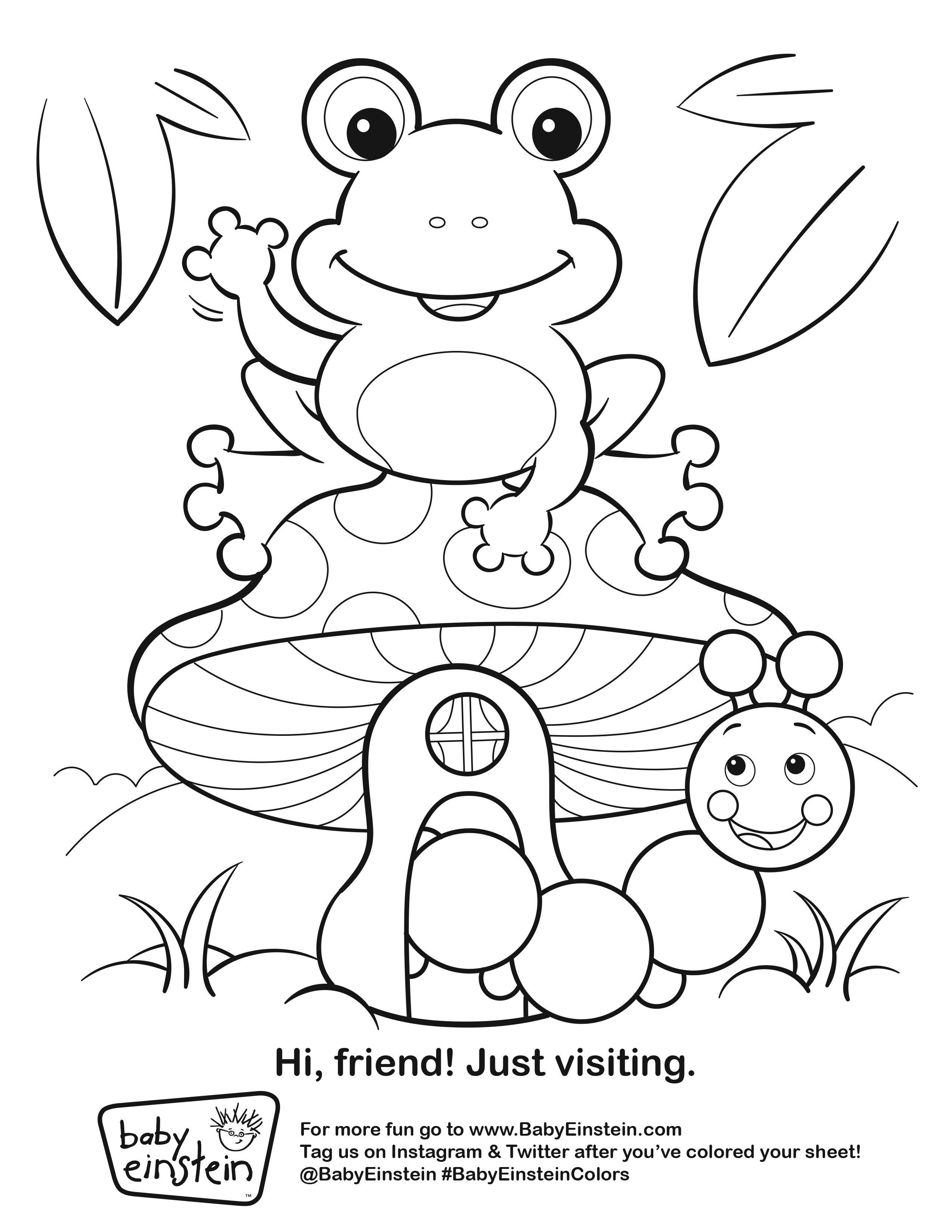 Baby Einstein Coloring Pages At Getcolorings