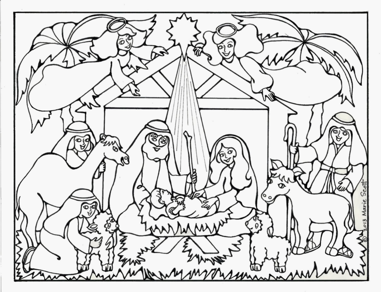 Baby Jesus Christmas Coloring Pages At Getcolorings