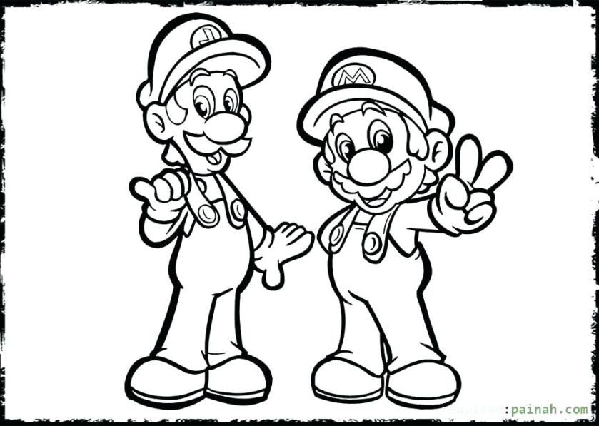 baby mario and baby luigi coloring pages at getcolorings