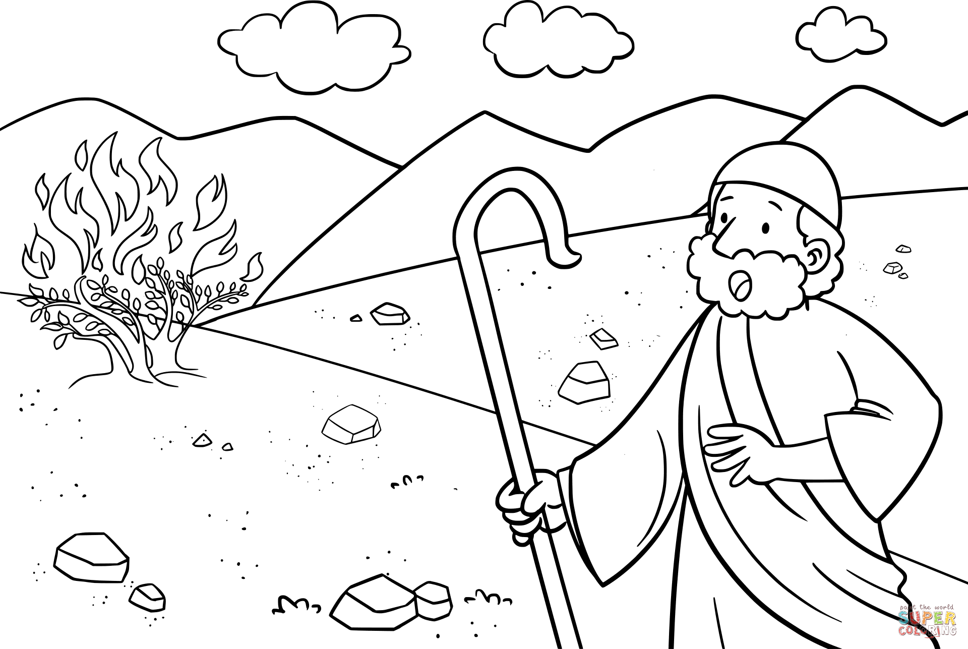 Baby Moses Coloring Page At Getcolorings