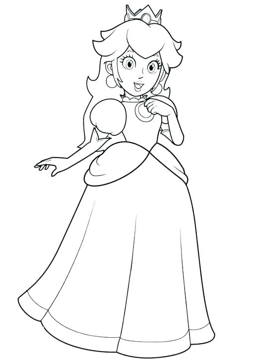 baby princess peach coloring pages at getcolorings