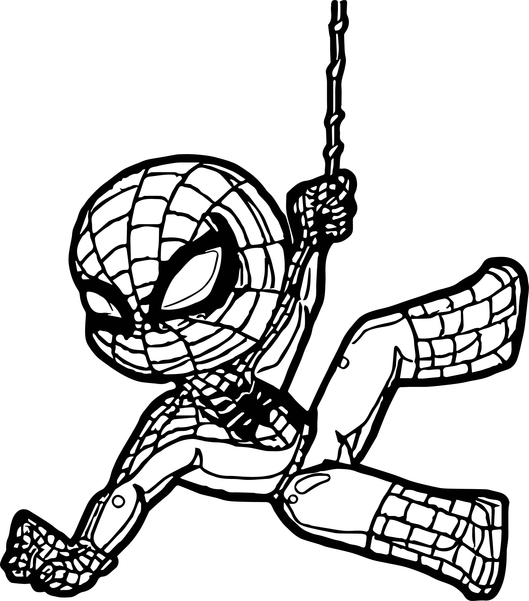 Baby Spiderman Coloring Pages At Getcolorings