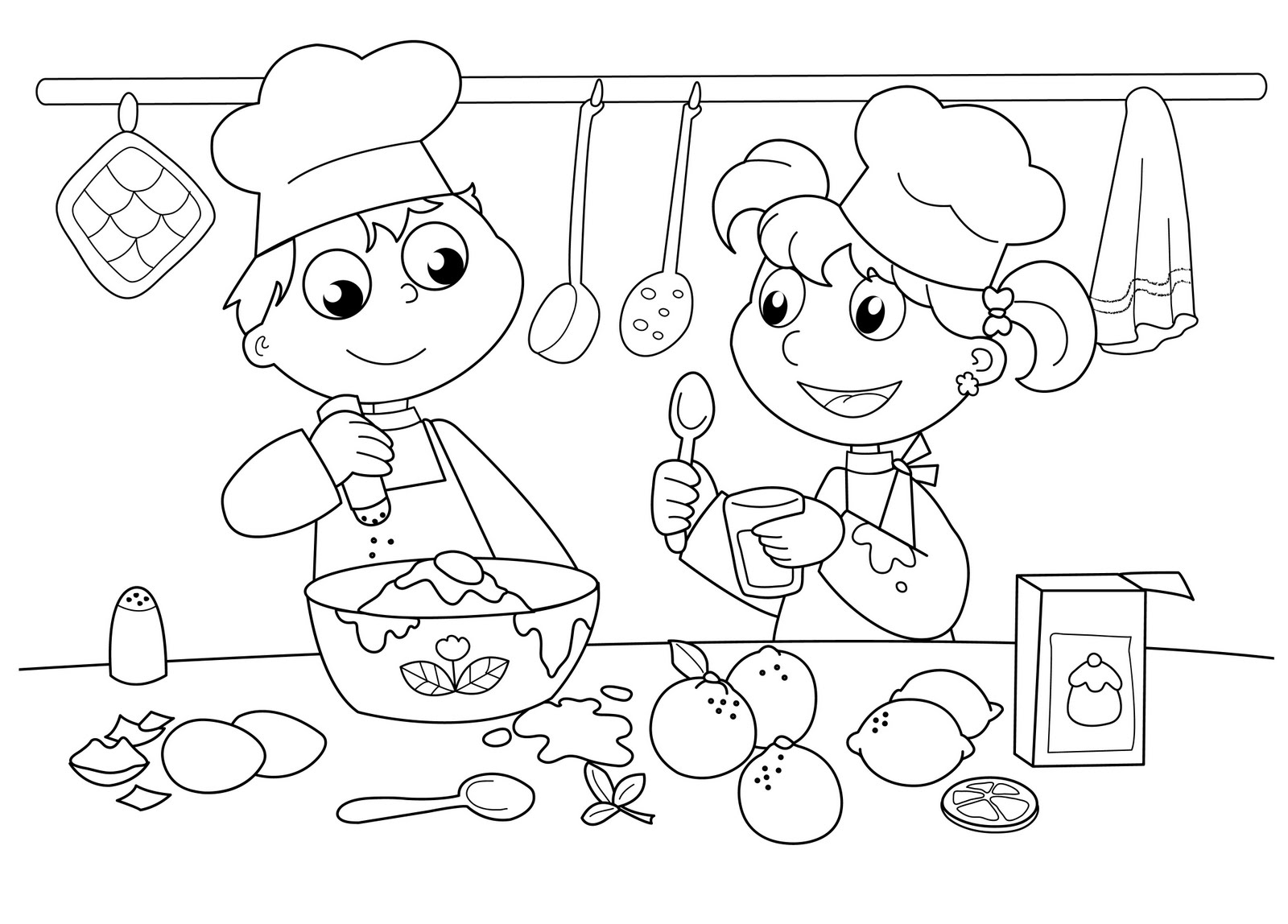 Baking Coloring Pages At Getcolorings