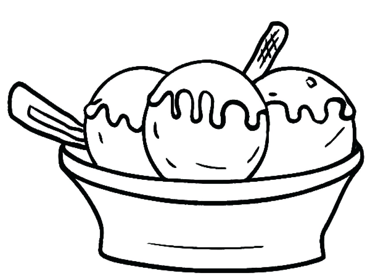 Banana Split Coloring Pages At Getcolorings