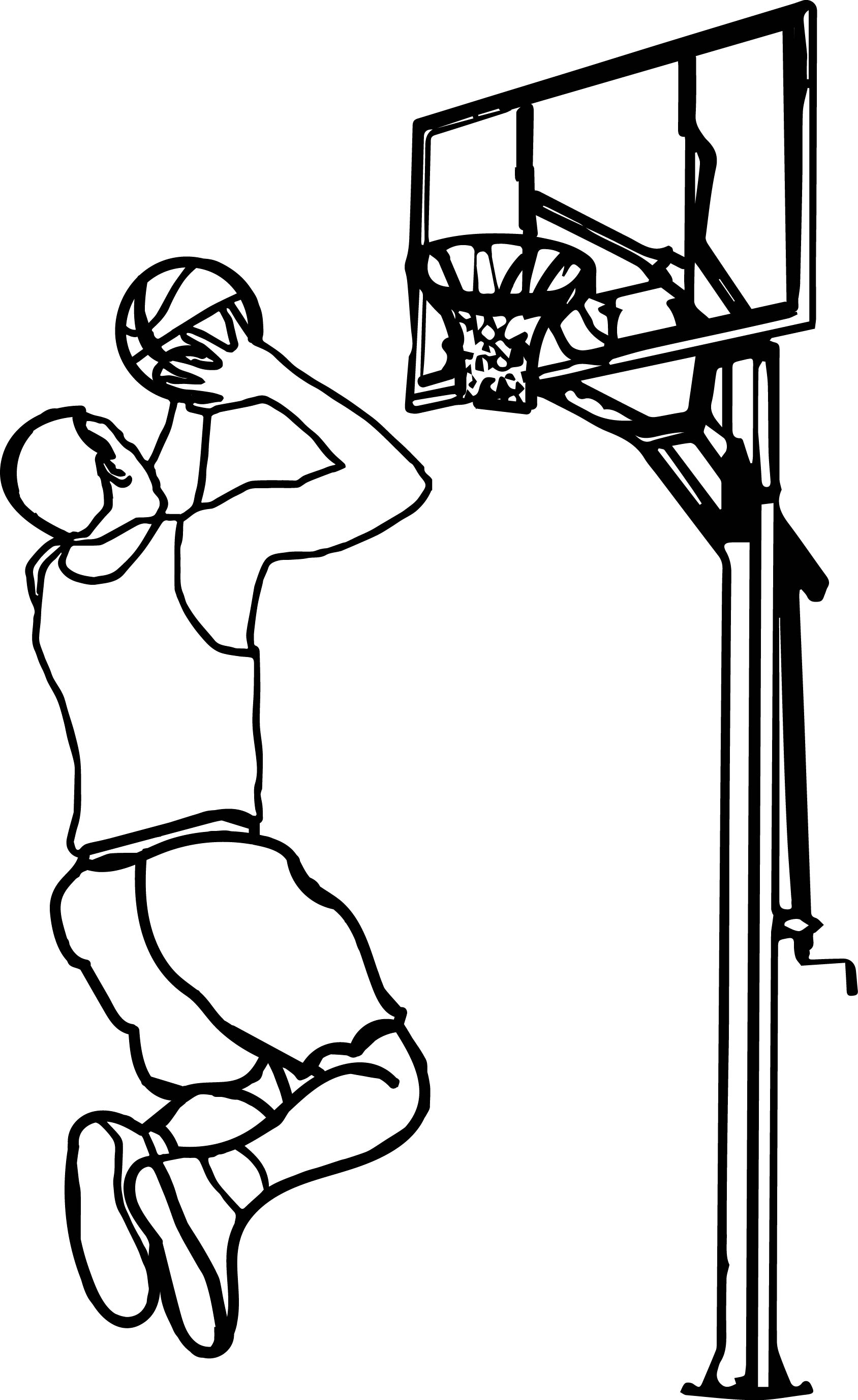 Basketball Hoop Coloring Page At Getcolorings