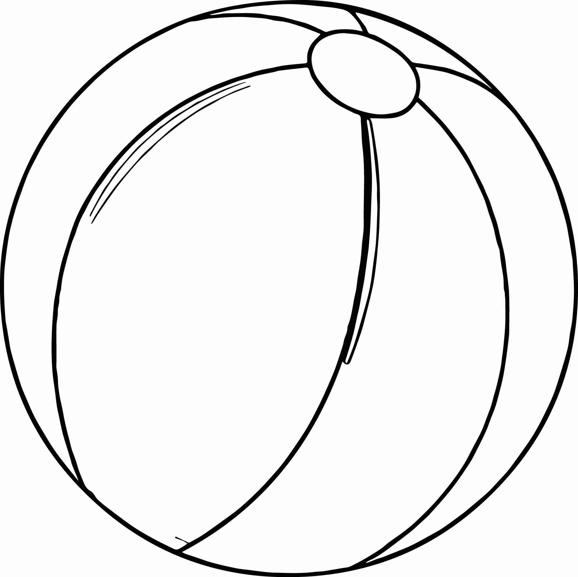 Beach Ball Coloring Page At Getcolorings
