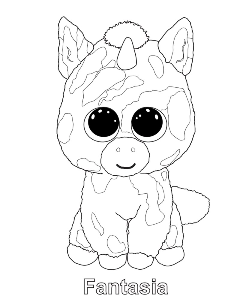 beanie boo coloring pages free at getcolorings  free