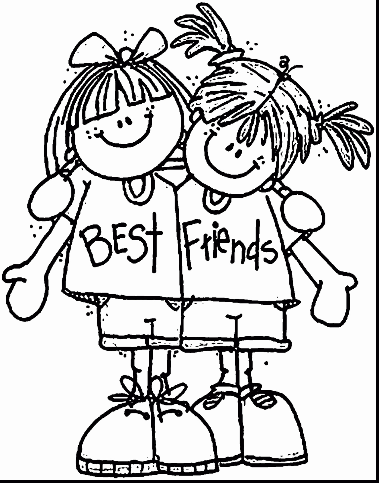 Best Friend Coloring Pages To Print At Getcolorings