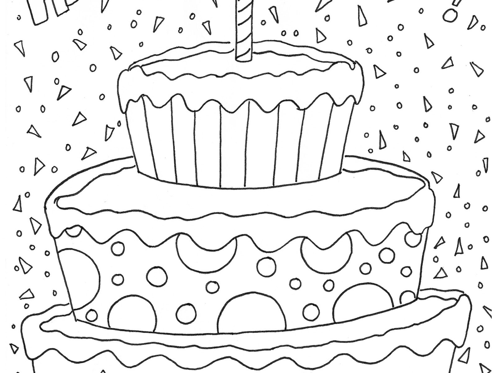 Birthday Cake Coloring Pages Preschool At Getcolorings