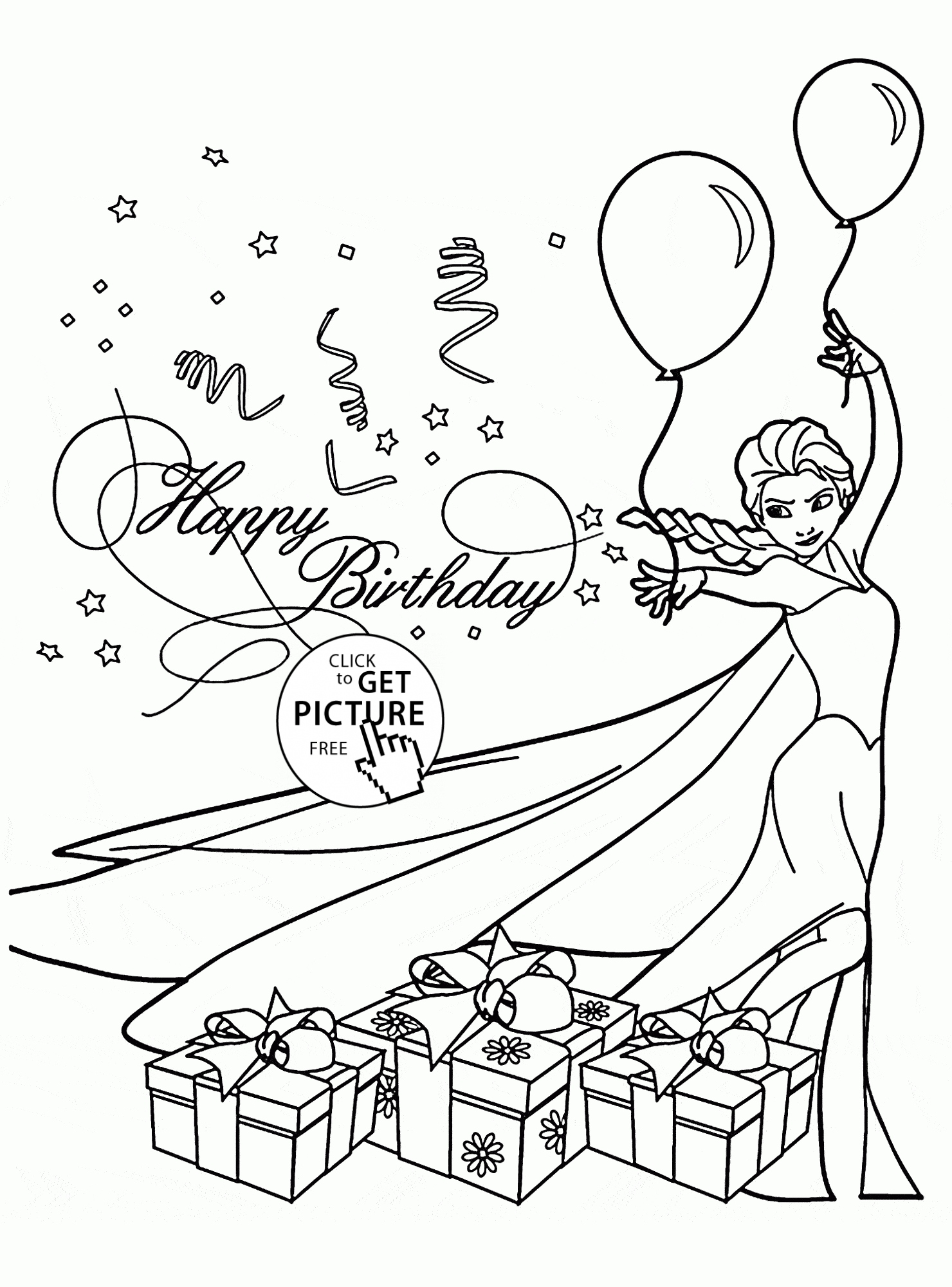 Birthday Card Coloring Page At Getcolorings