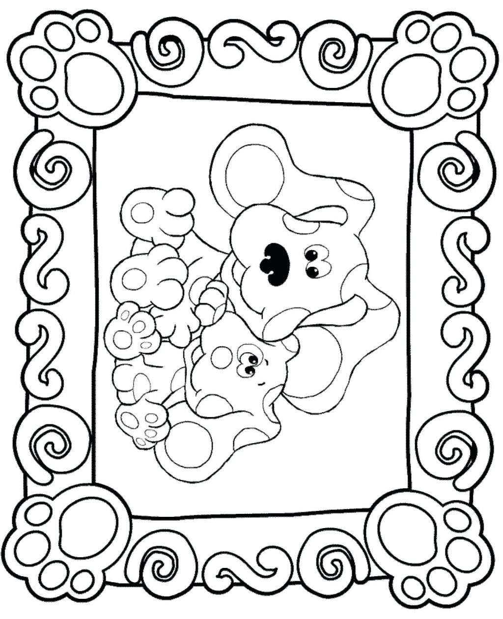 Blues Clues Printable Coloring Pages At Getcolorings