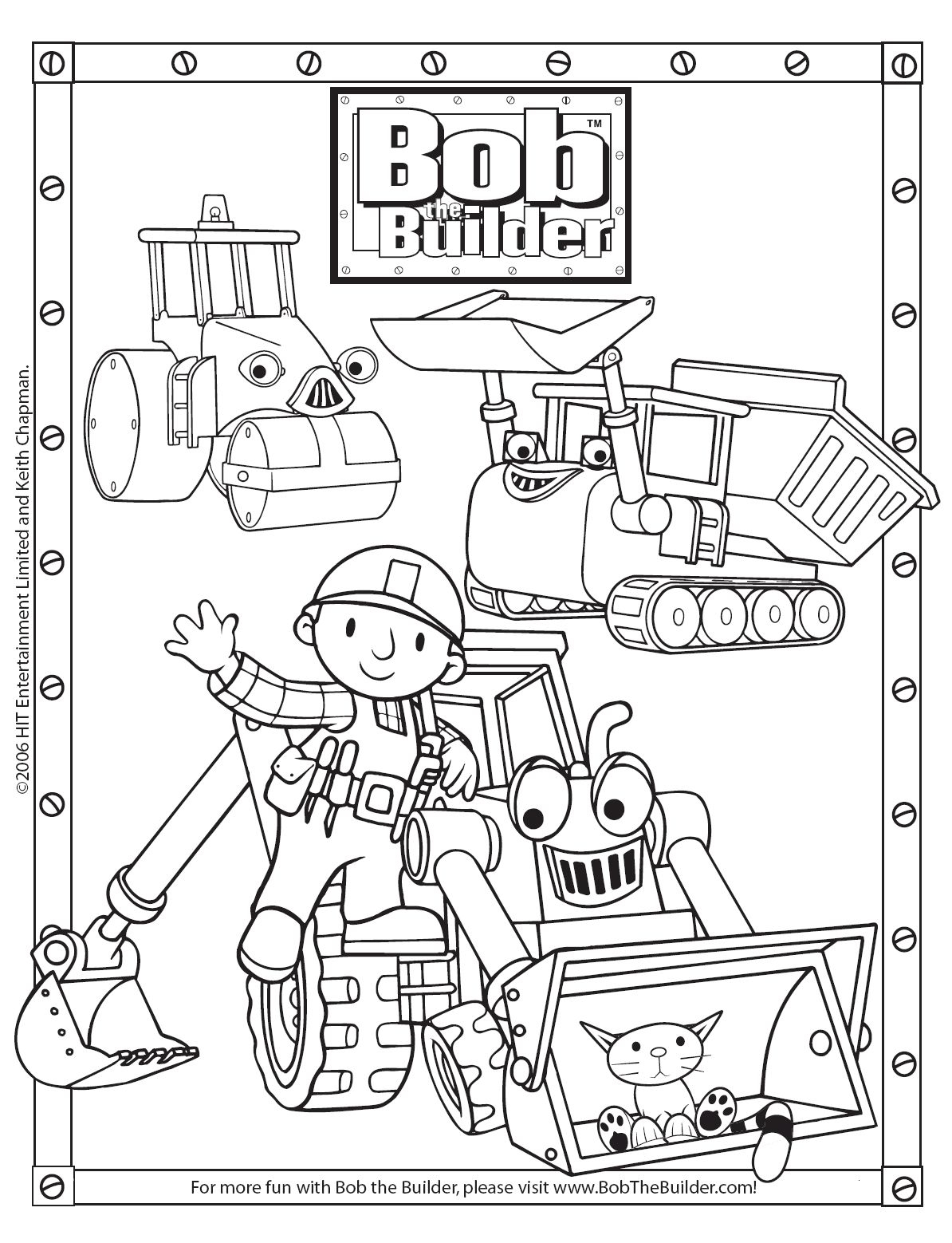 Bob The Builder Coloring Pages At Getcolorings