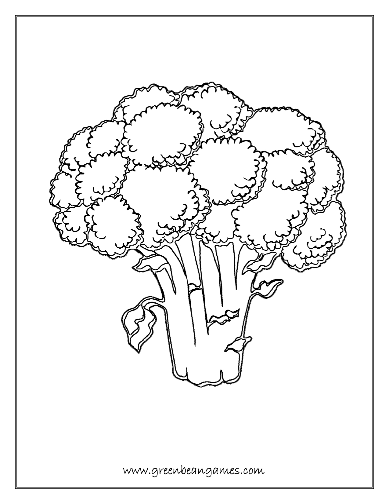 Broccoli Coloring Page At Getcolorings