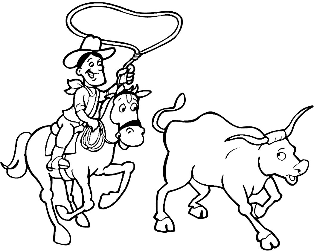 Bucking Horse Coloring Pages At Getcolorings