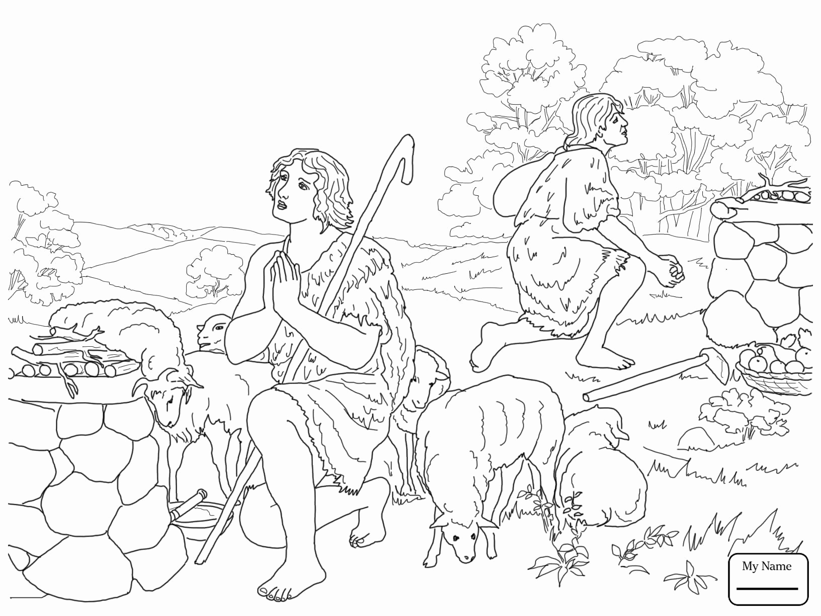 Cain And Abel Coloring Page At Getcolorings