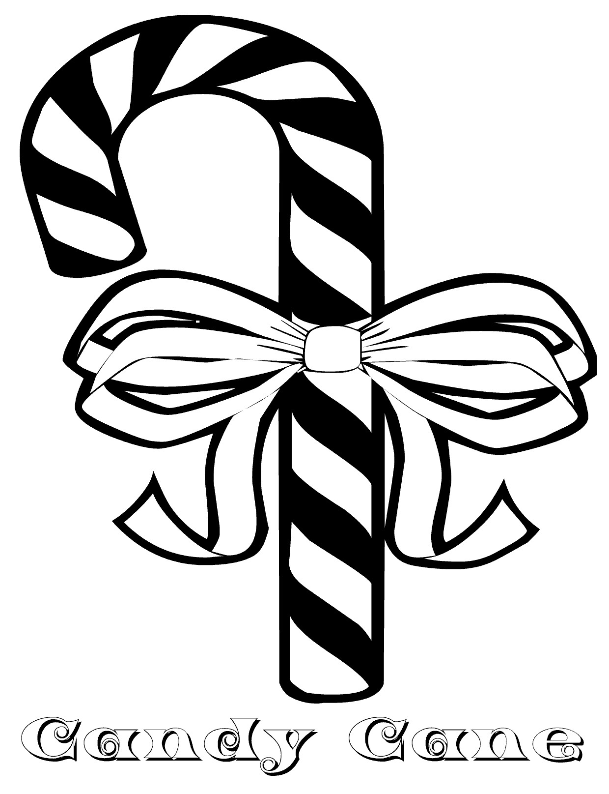 Candy Cane Printable Coloring Pages At Getcolorings
